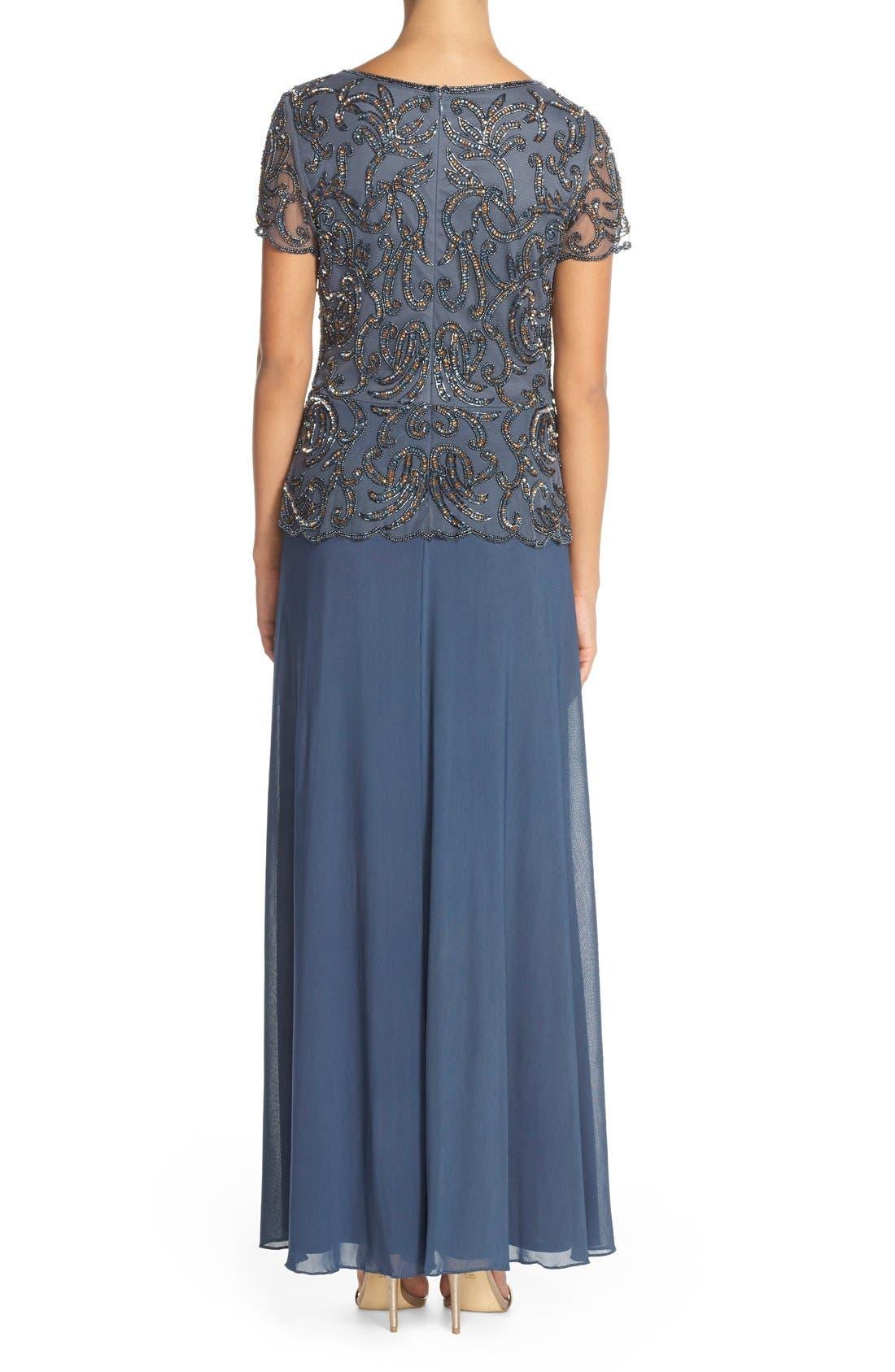 Alternate Image 2  - Pisarro Nights Embellished Mesh & Chiffon Gown