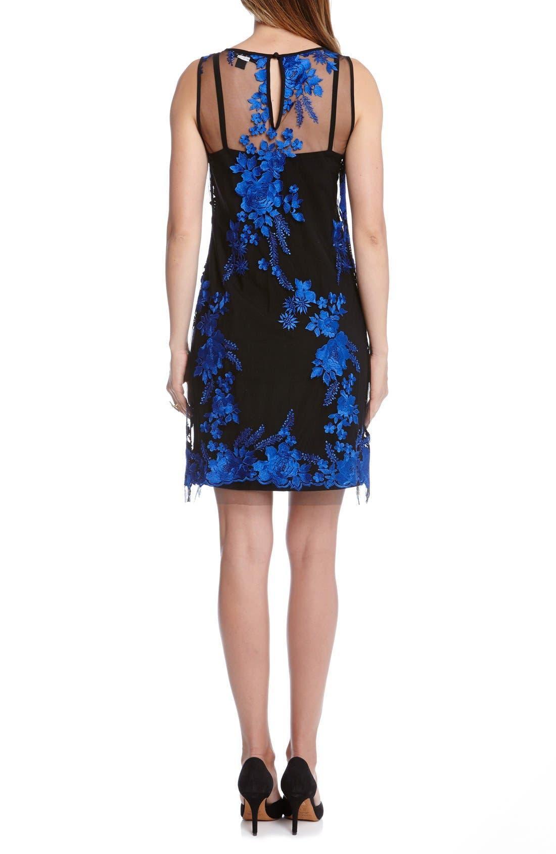 Alternate Image 2  - Karen Kane Embroidered Tulle A-Line Dress