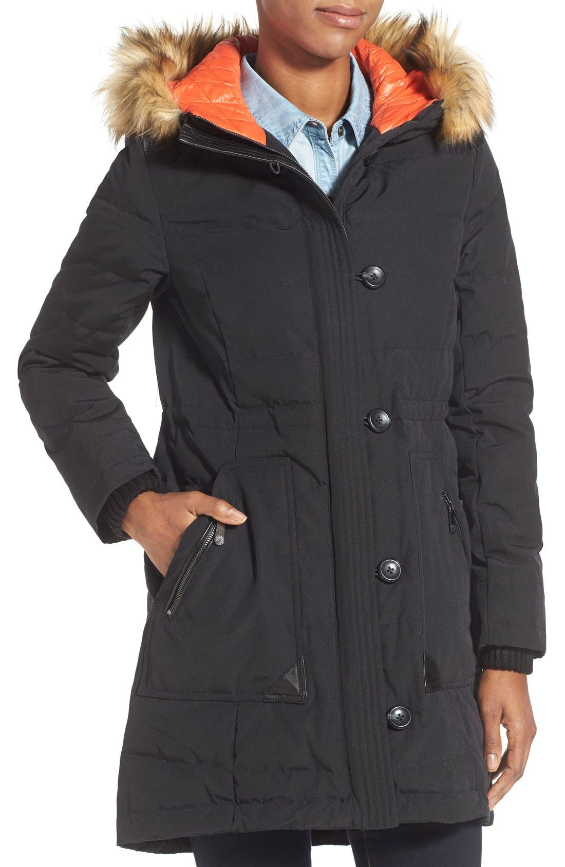 Alternate Image 3  - Vince Camuto Down & Feather Fill Parka with Faux Fur Trim