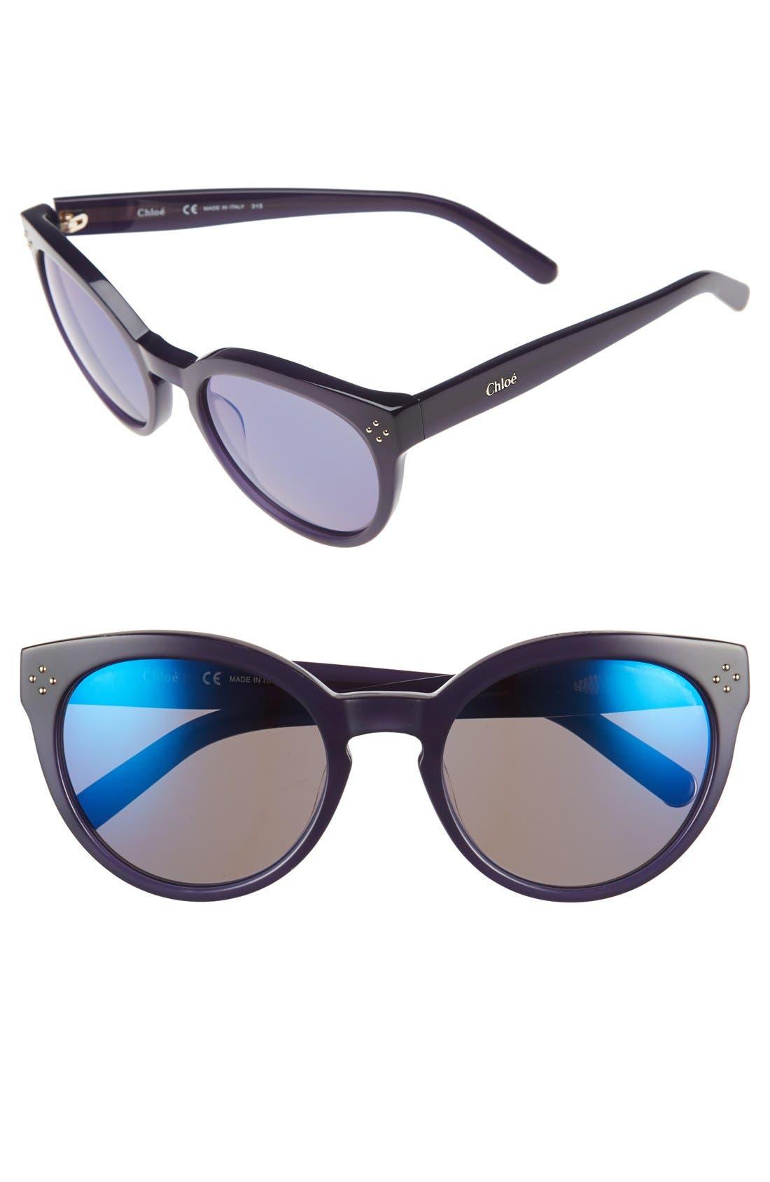 Main Image - Chloé 'Boxwood' 54mm Round Sunglasses
