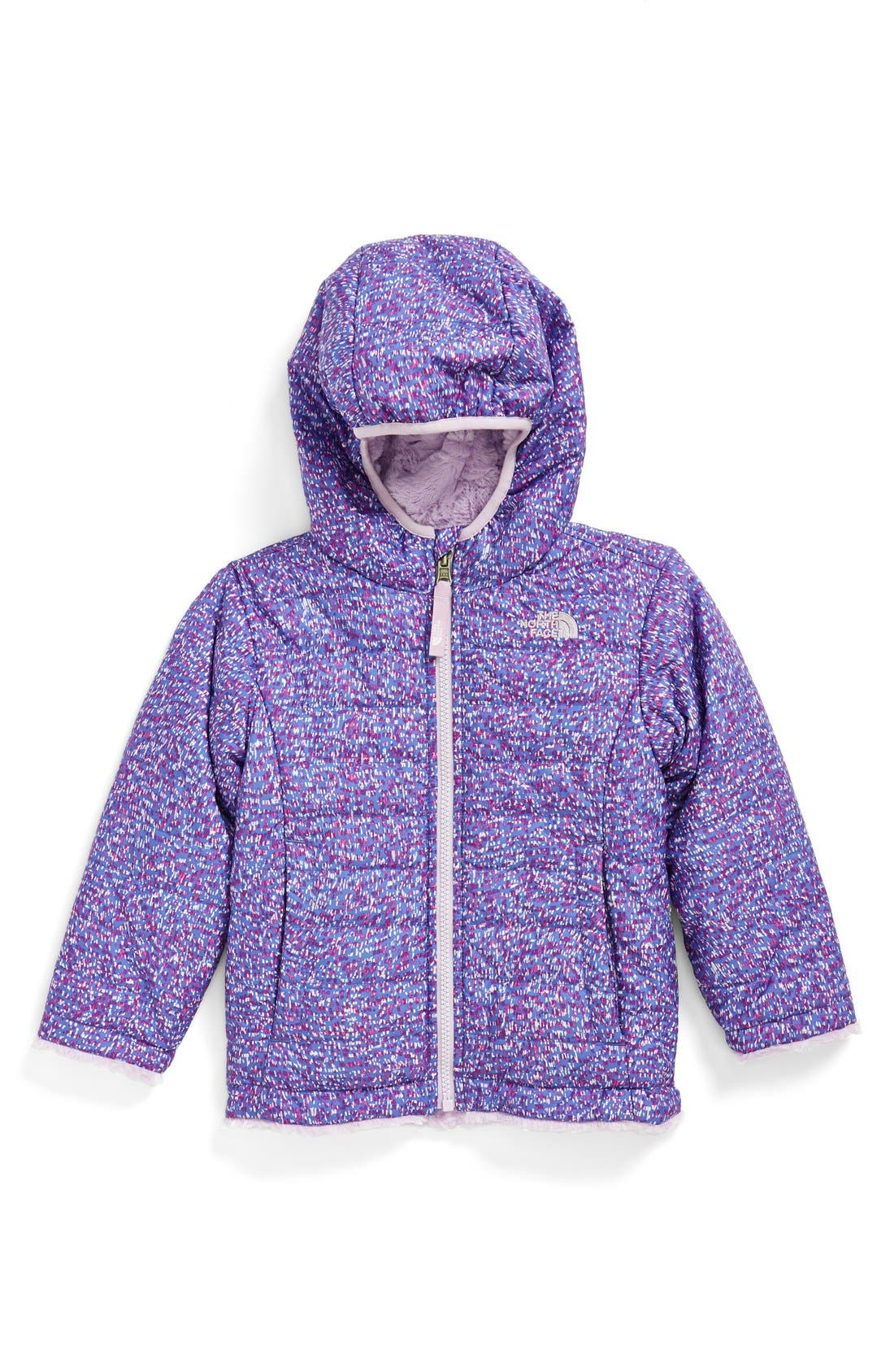Main Image - The North Face 'Mossbud Swirl' Reversible Water Repellent Jacket (Baby Girls)