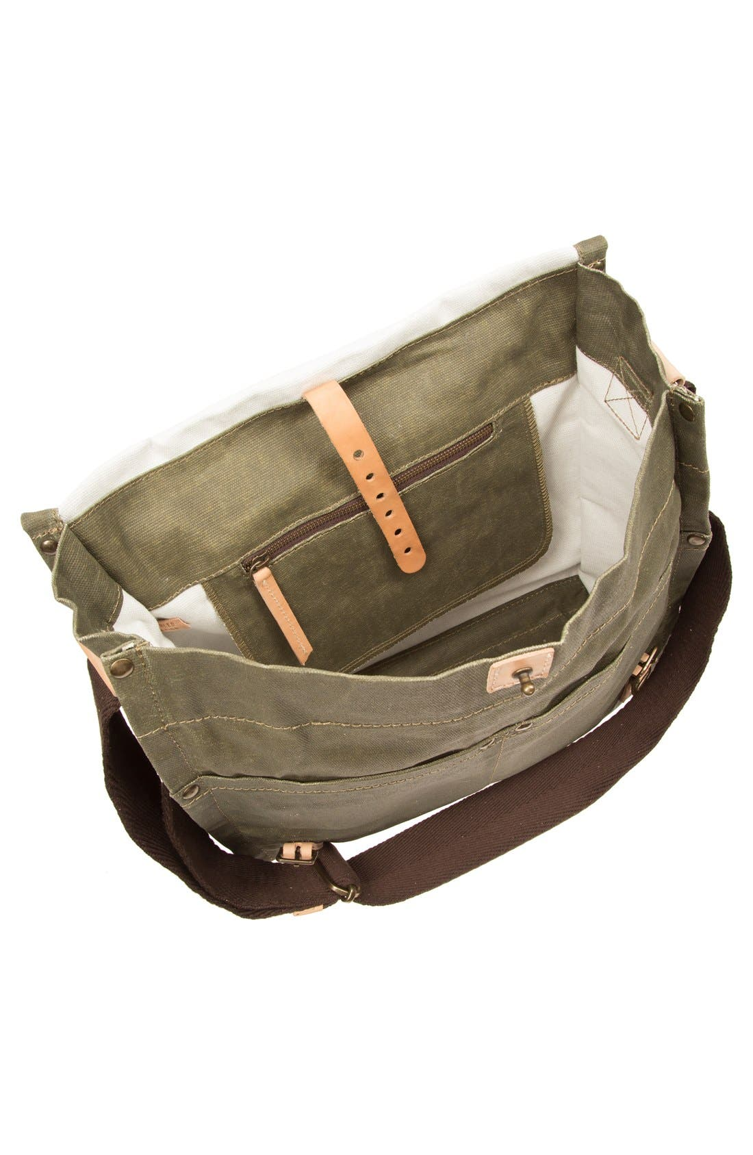 Alternate Image 4  - Will Leather Goods Waxed Canvas Messenger Bag