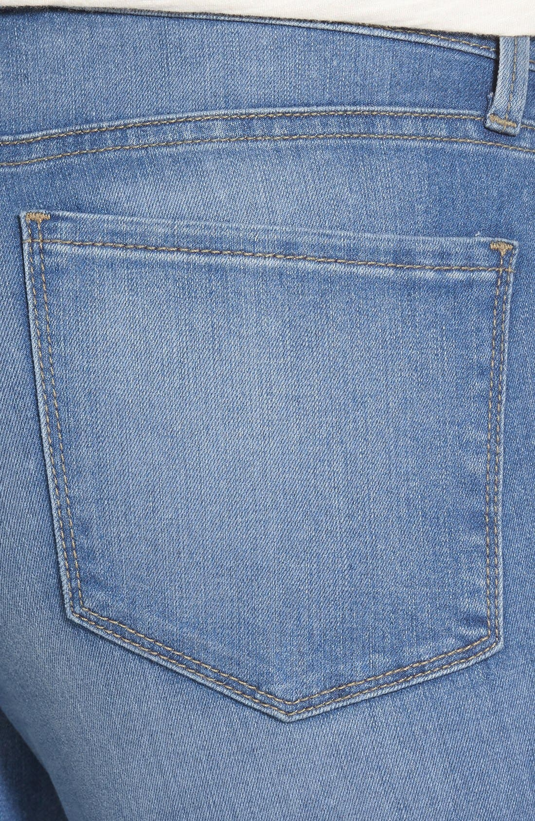 Alternate Image 4  - NYDJ 'Farrah' Stretch Flare Leg Jeans (Upper Falls)