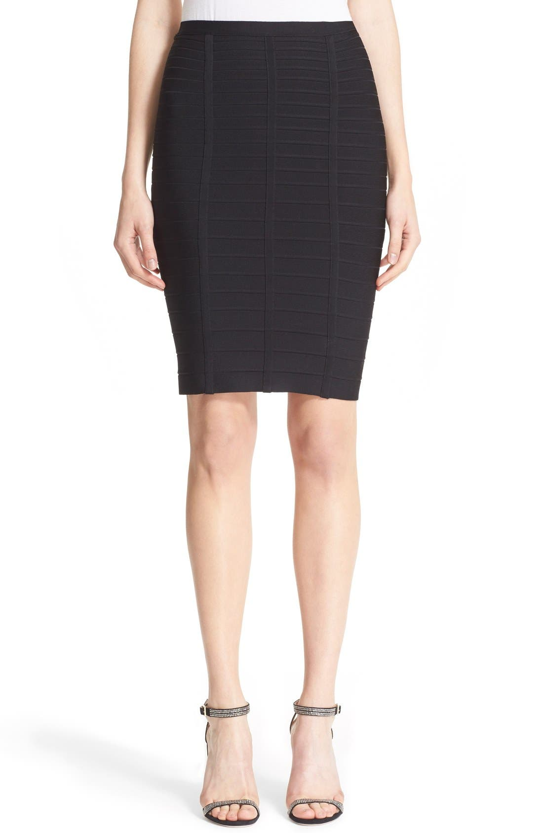 Main Image - Herve Leger Bandage Pencil Skirt