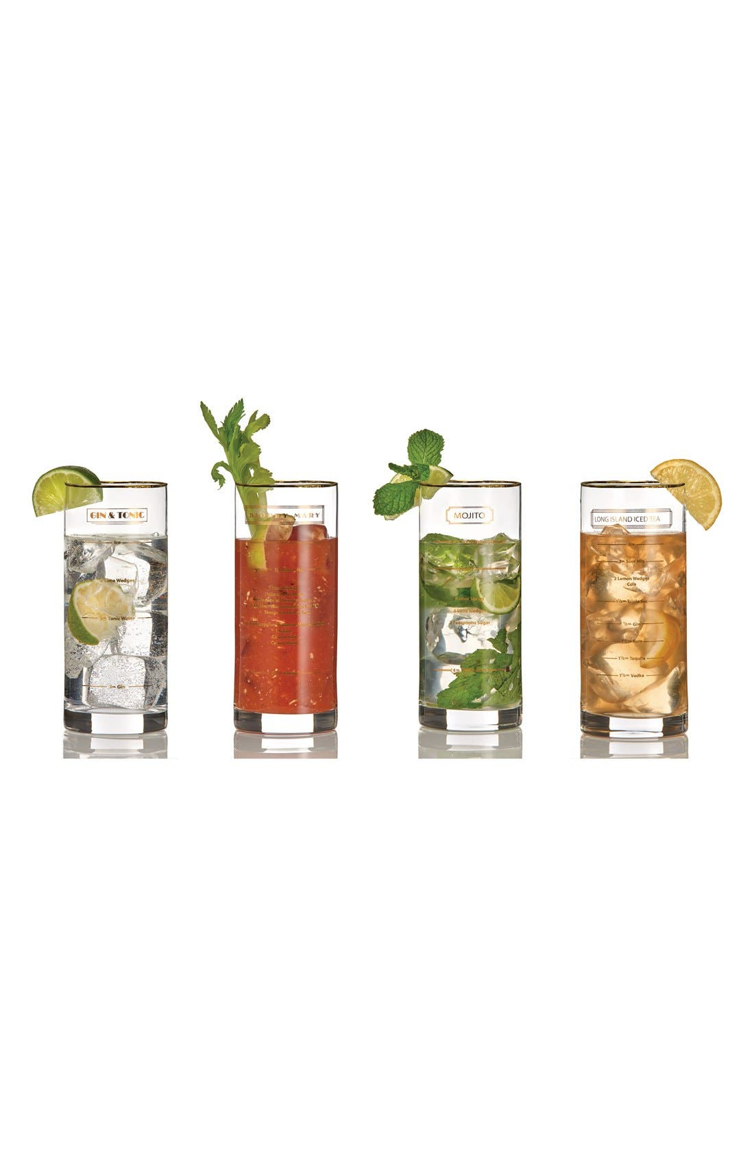 Alternate Image 2  - Marquis by Waterford 'Recipe' Highball Glasses (Set of 4)