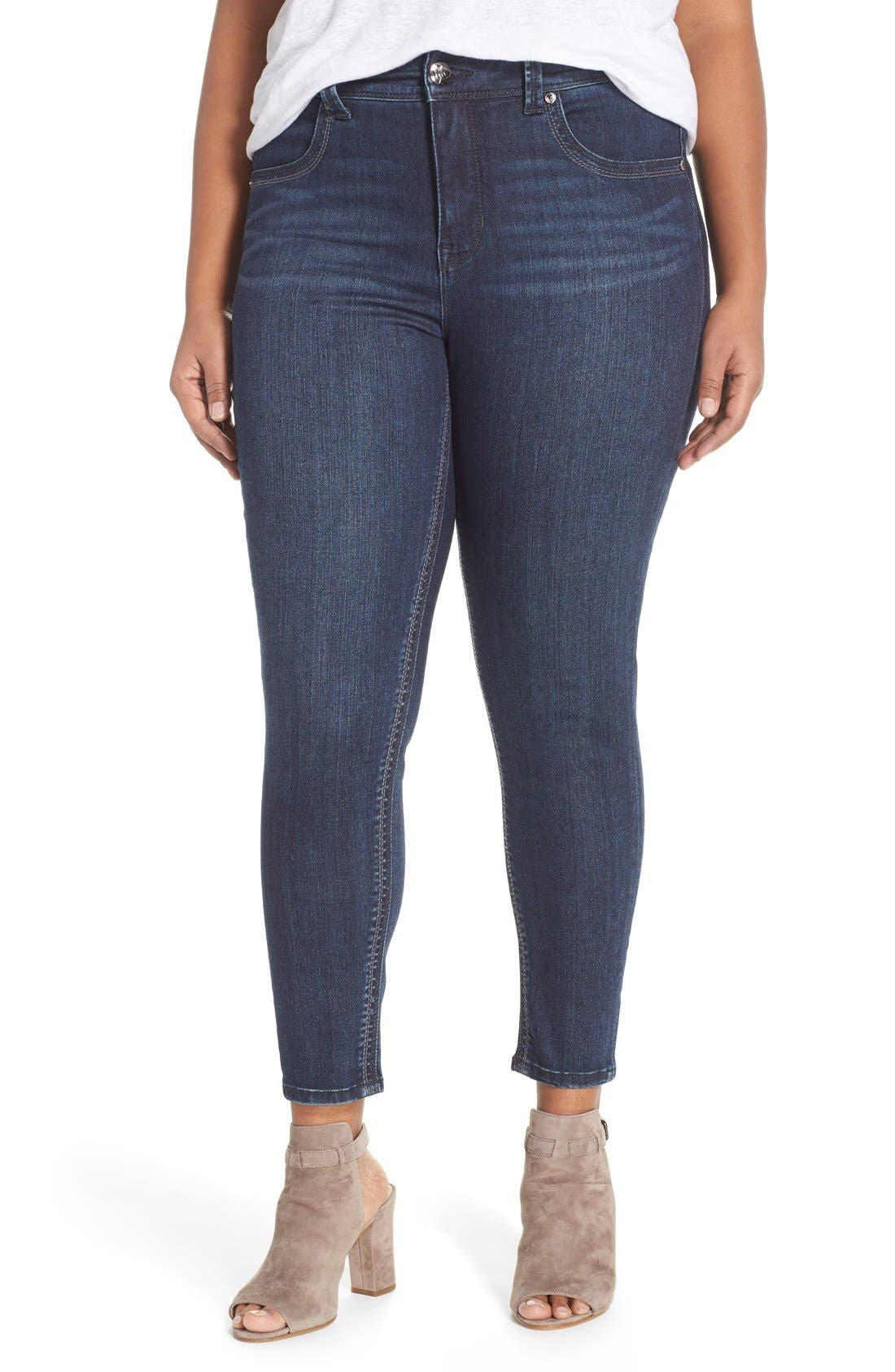 Alternate Image 1 Selected - Melissa McCarthy Seven7 High Rise Pencil Jeans (Blissful) (Plus Size)