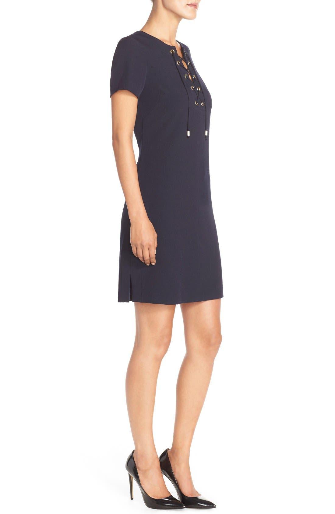 Alternate Image 3  - Eliza J Front Lace Shift Dress (Regular & Petite)