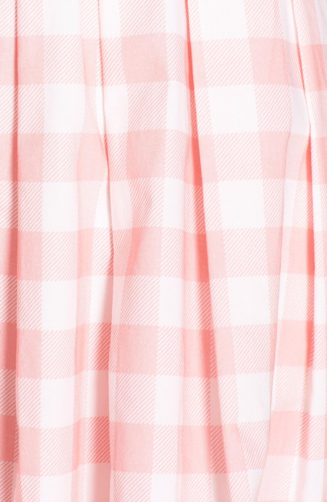 Alternate Image 6  - Eliza J Check Cotton Poplin Shirtdress