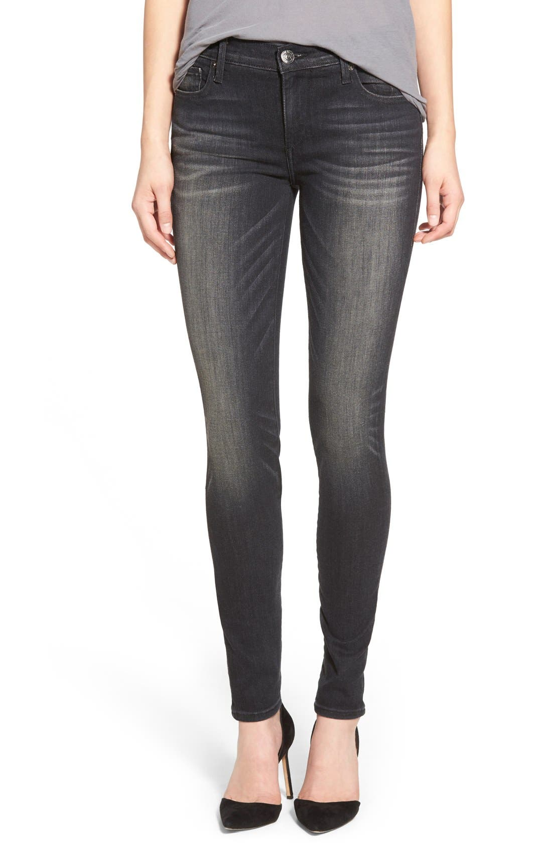 Alternate Image 1 Selected - True Religion Brand Jeans 'Halle' Skinny Jeans (Authentic Black)