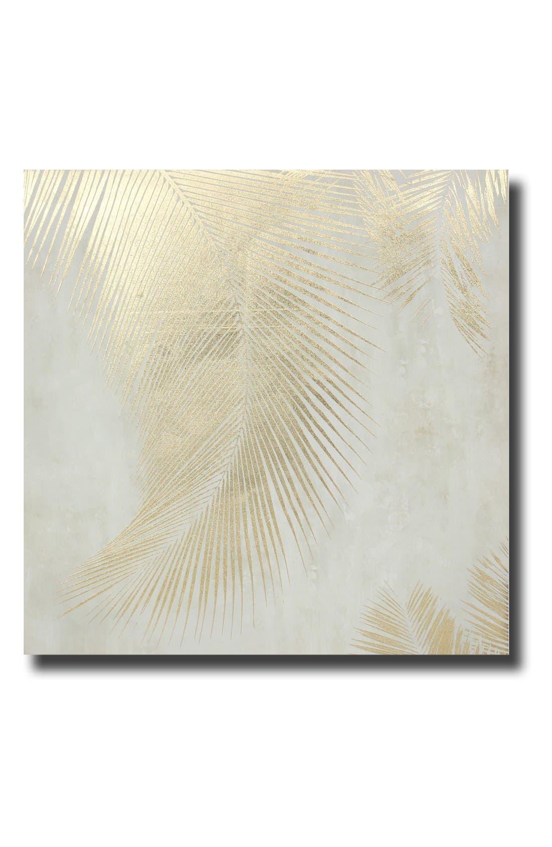 Alternate Image 2  - Crystal Art Gallery Gold Foil Leaves Wall Art