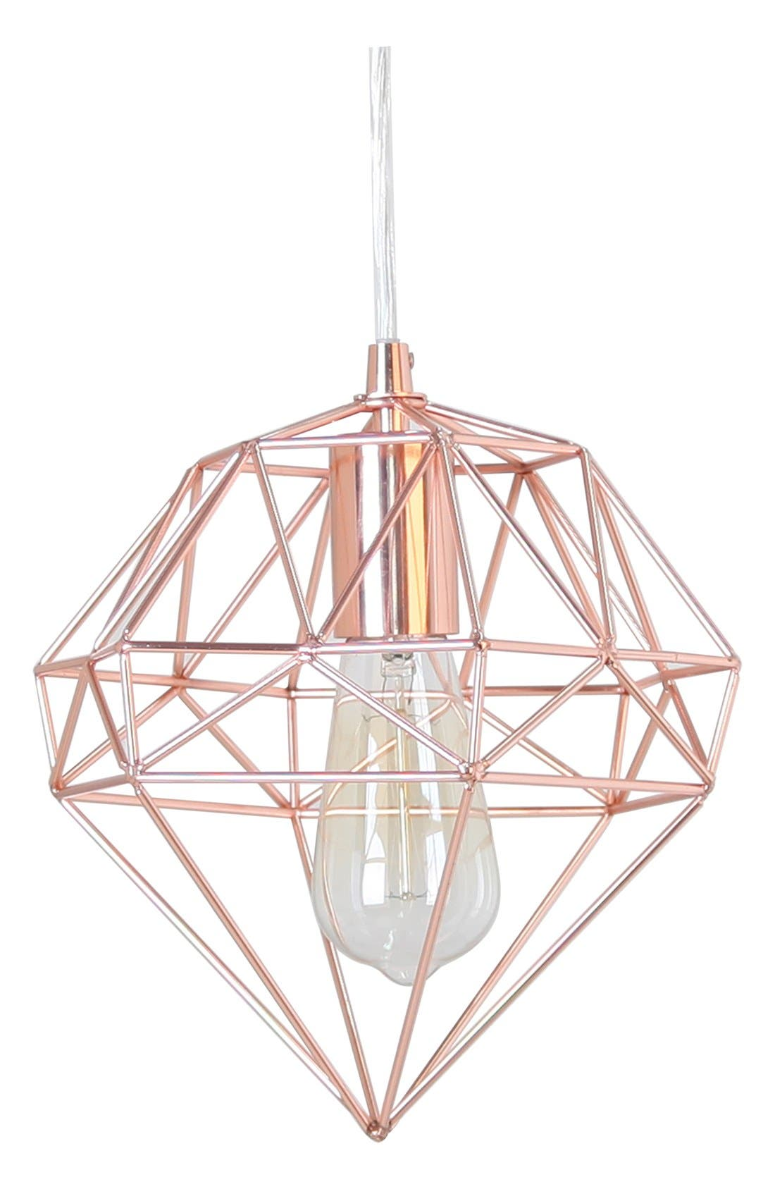 Main Image - Crystal Art Gallery Metallic Hanging Lamp