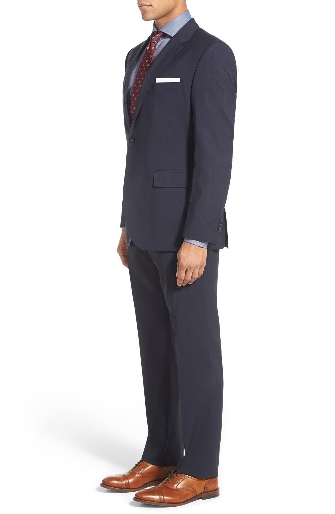 Alternate Image 3  - BOSS 'James/Sharp' Trim Fit Stripe Wool Suit