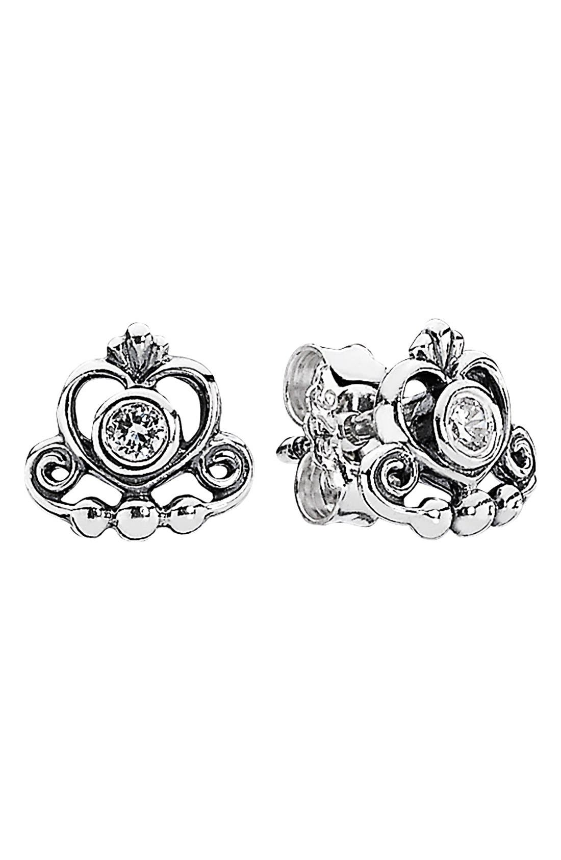 Alternate Image 1 Selected - PANDORA 'My Princess' Stud Earrings