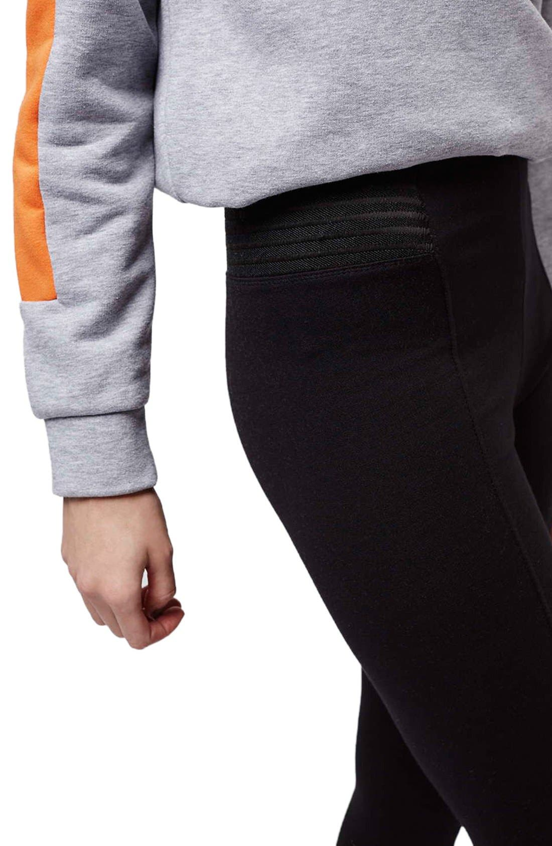 Alternate Image 5  - Topshop Elastic Stripe Leggings