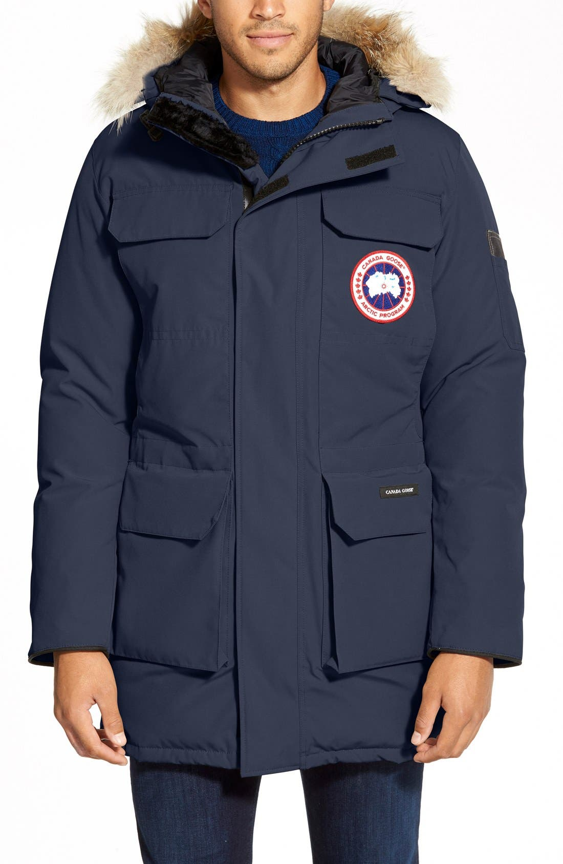 CANADA GOOSE 'Citadel' Slim Fit Parka with Genuine