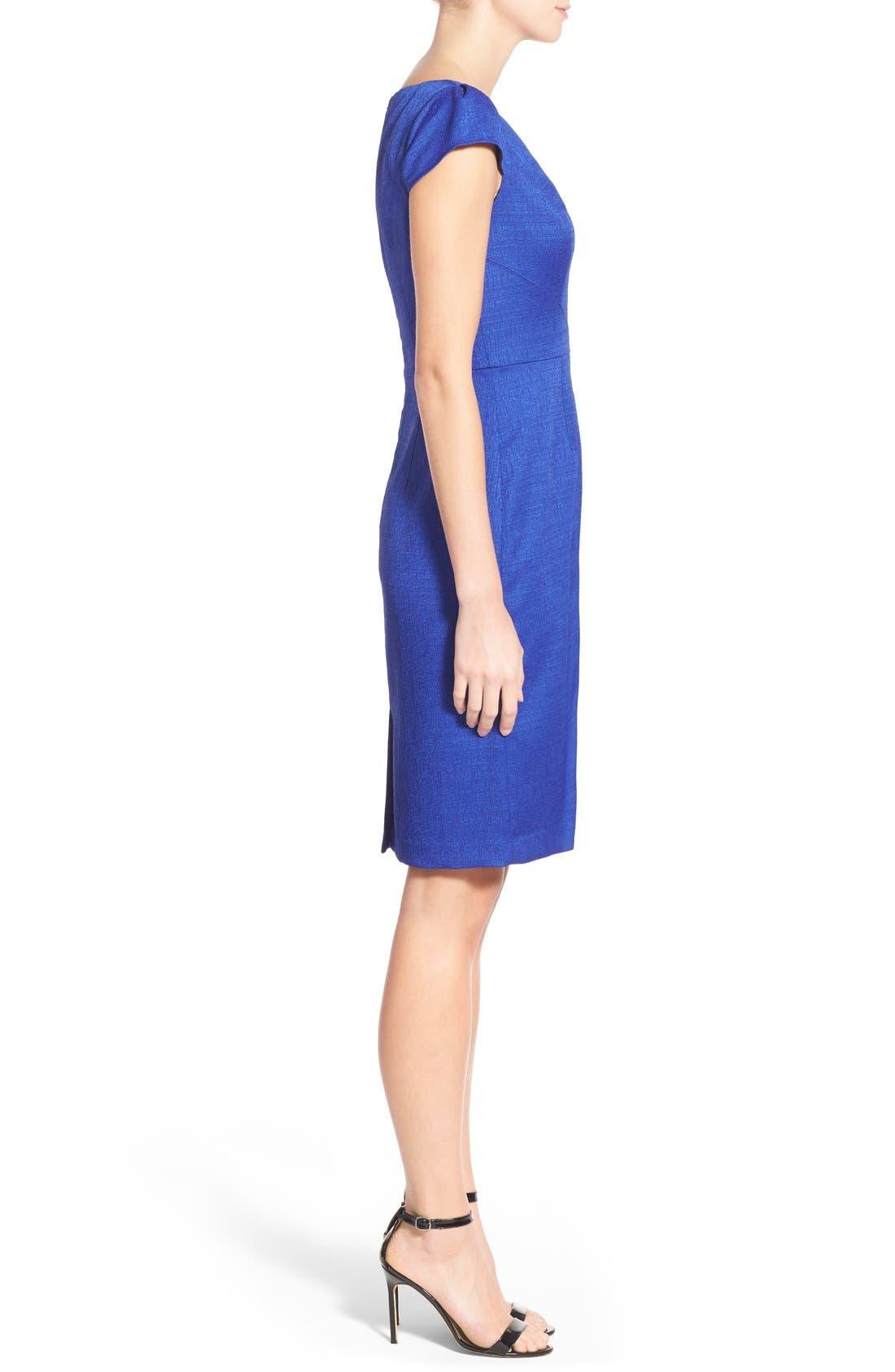 Alternate Image 3  - Adrianna Papell Cap Sleeve Jacquard Sheath Dress