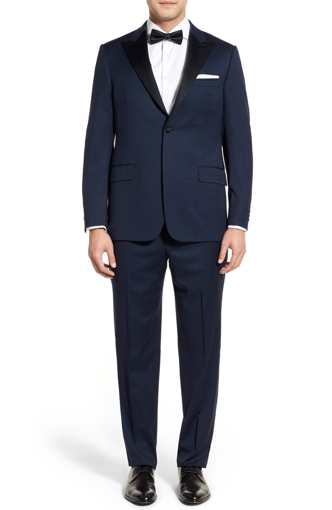 Hickey Freeman 'Tailor's Gold' Classic Fit Wool Tuxedo