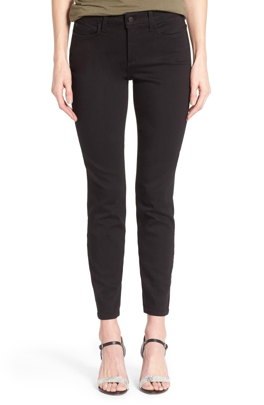 NYDJ 'Clarissa' Stretch Ankle Skinny Jeans (Black Garment)