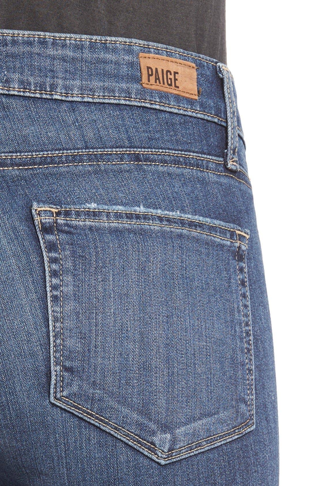 Alternate Image 4  - Paige Denim 'Transcend - Verdugo' Ultra Skinny Jeans (Silas Destructed)