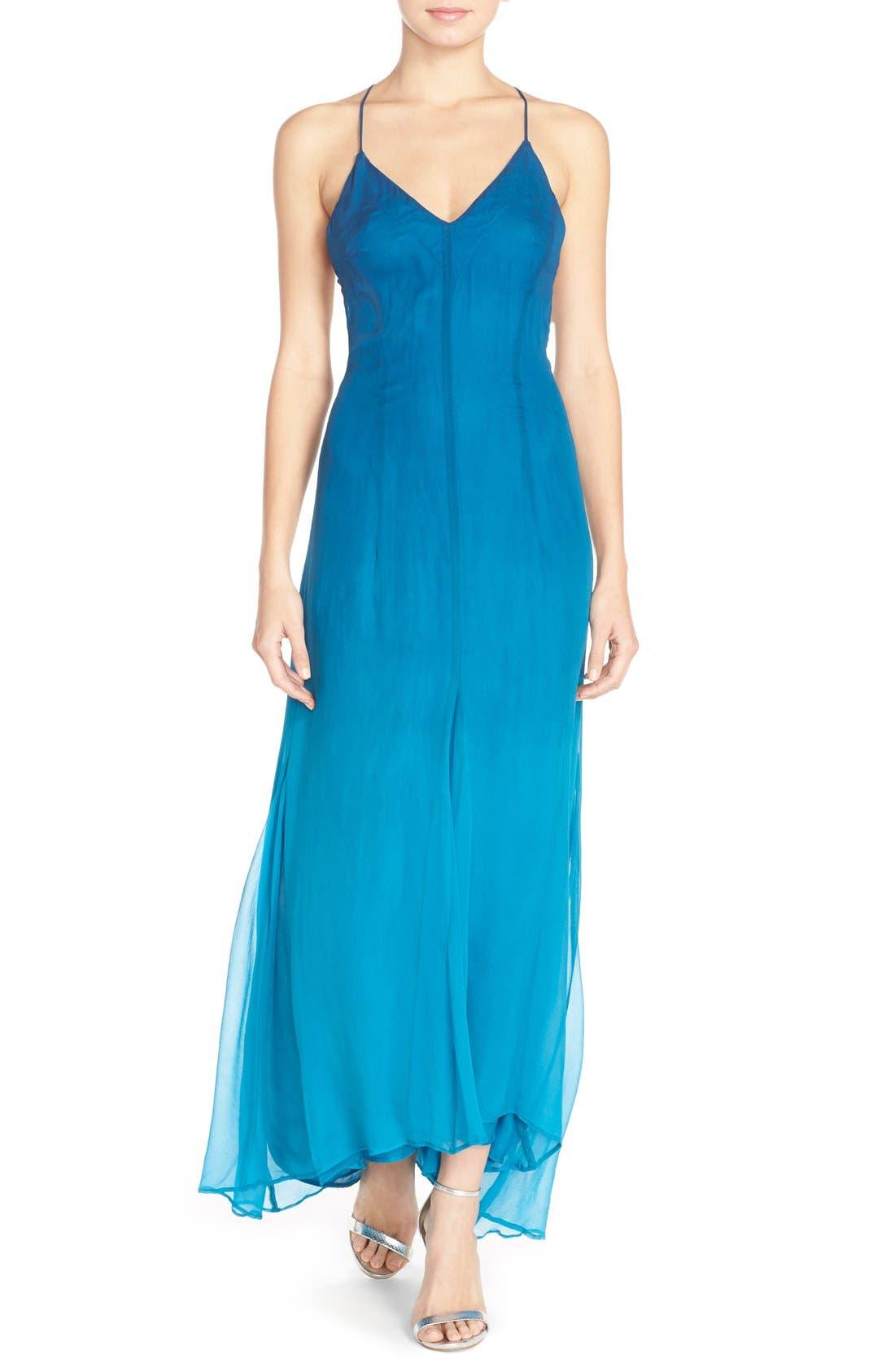 Alternate Image 1 Selected - Charlie Jade Ombré Maxi Dress with High/Low Hem
