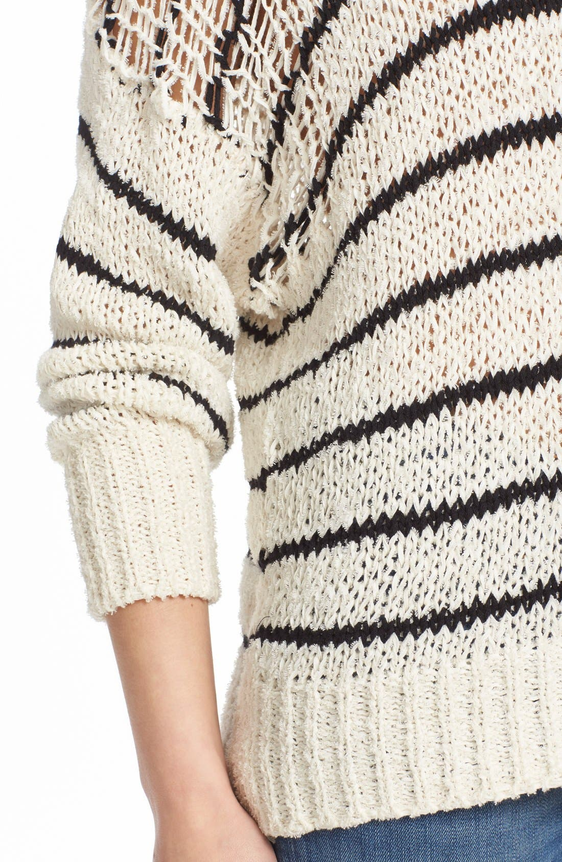 Alternate Image 4  - IRO Stripe Cotton Blend Knit Sweater