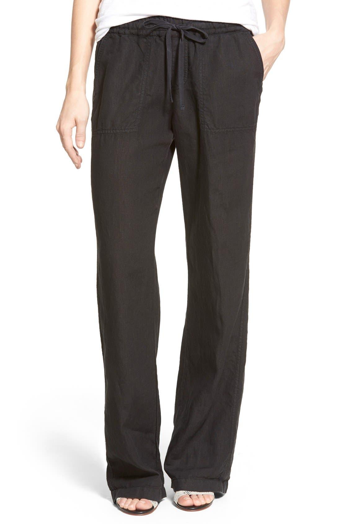 Main Image - Caslon® Drawstring Linen Pants (Regular & Petite)
