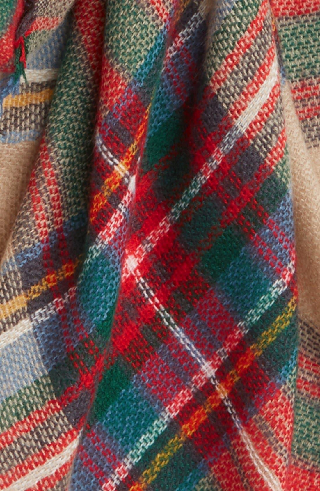 Alternate Image 3  - Evelyn K Plaid Blanket Scarf