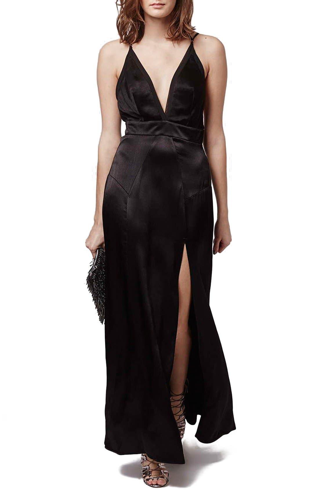 Alternate Image 1 Selected - Topshop Satin Maxi Dress