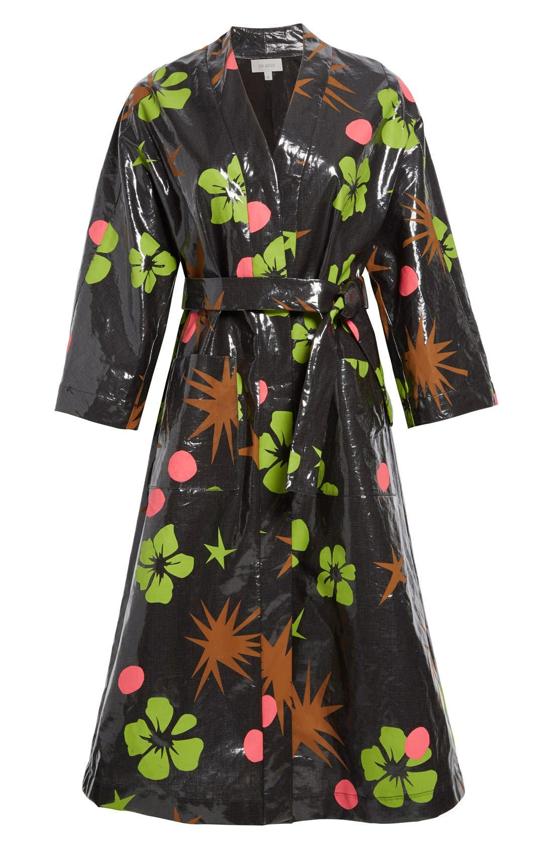 Alternate Image 4  - Isa Arfen Coated Linen Robe Coat