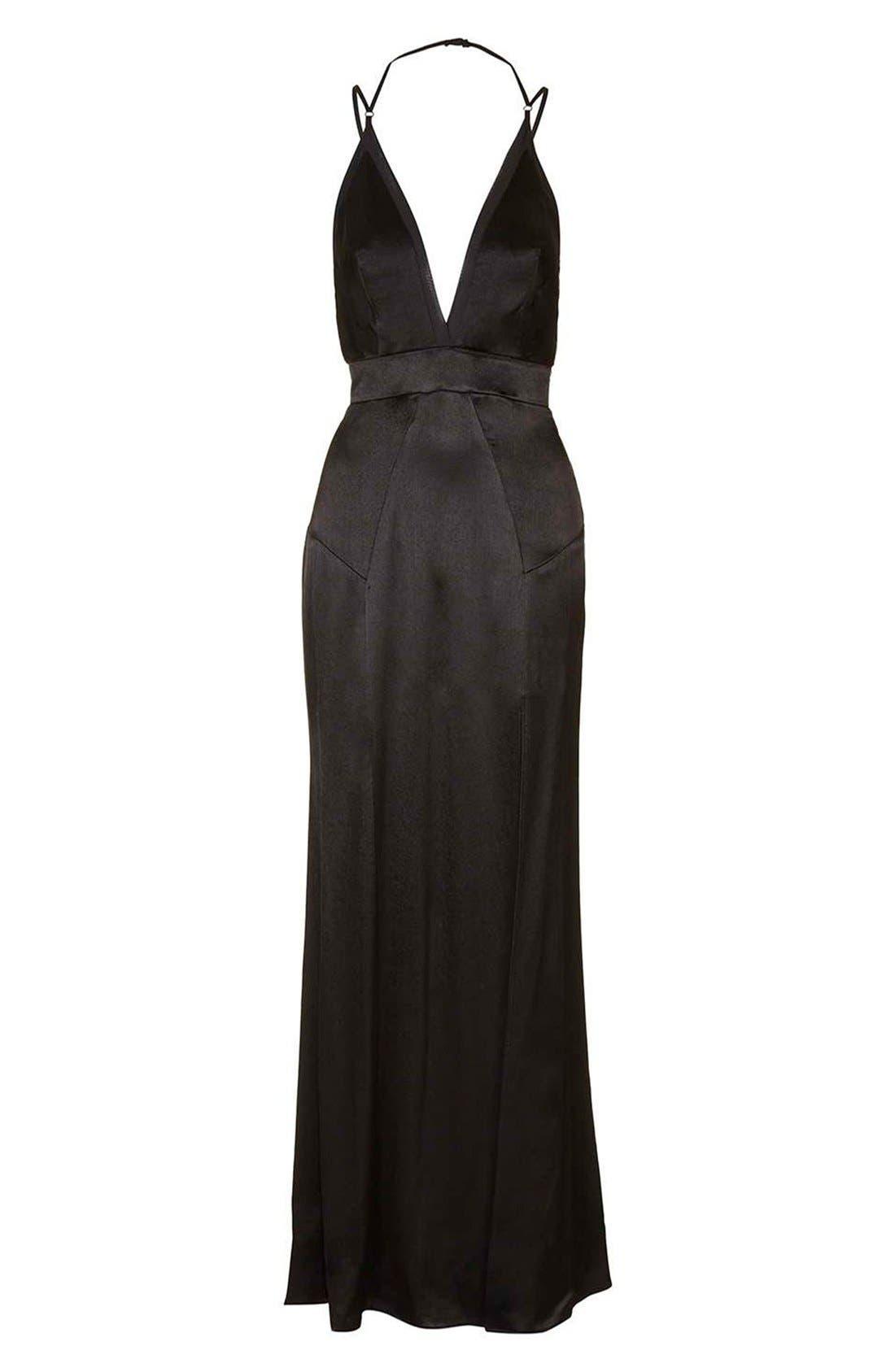 Alternate Image 3  - Topshop Satin Maxi Dress