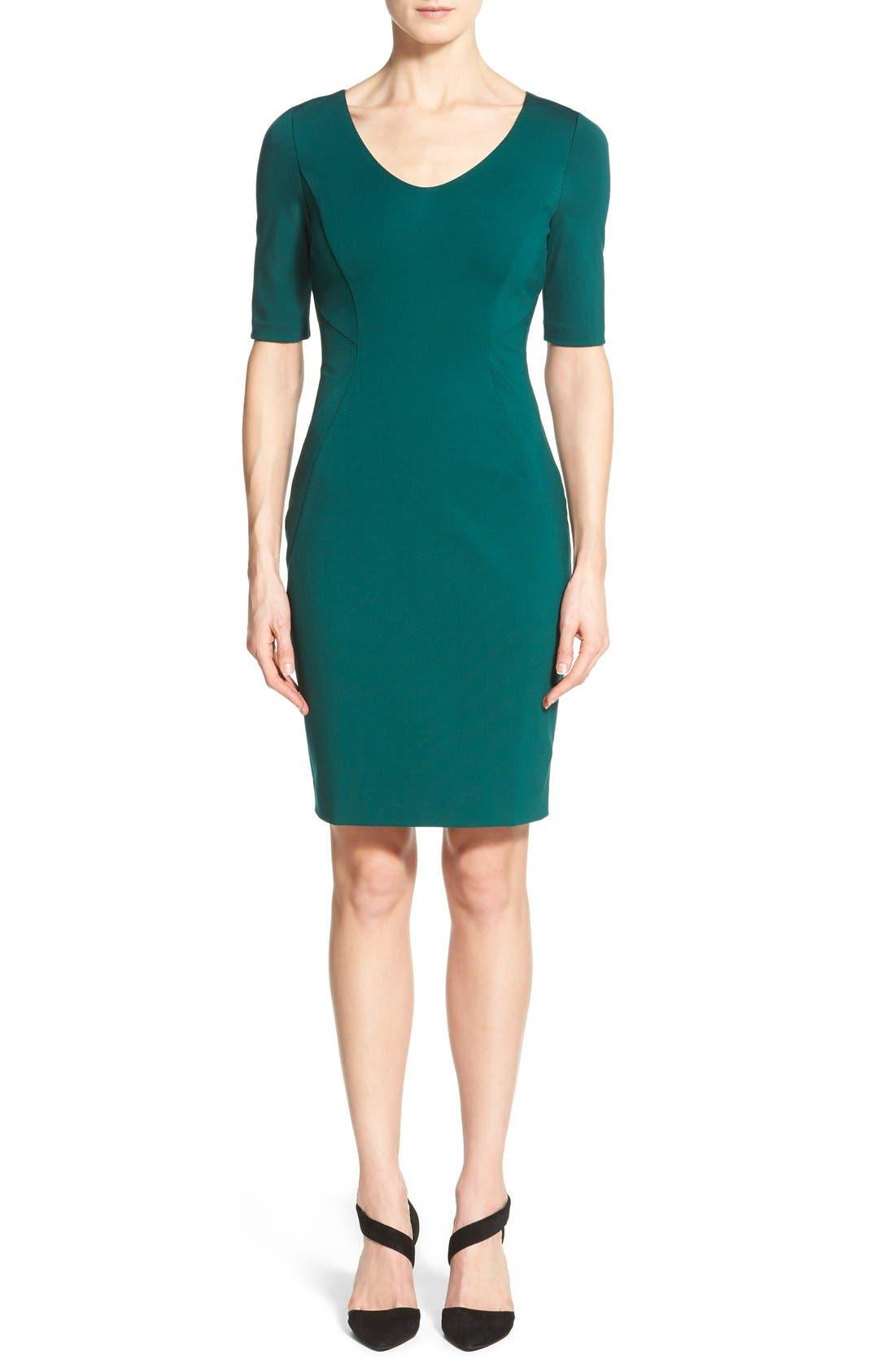 Main Image - Halogen® Ponte Dress (Regular & Petite)