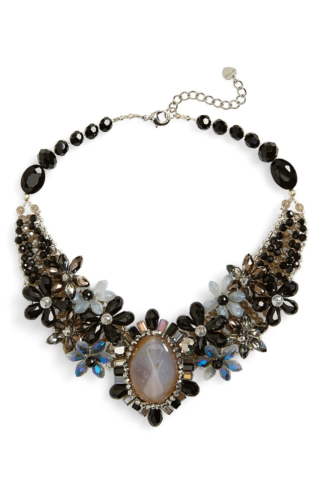 Alternate Image 1 Selected - Nakamol Design 'Crystal Stone Flower' Collar Necklace
