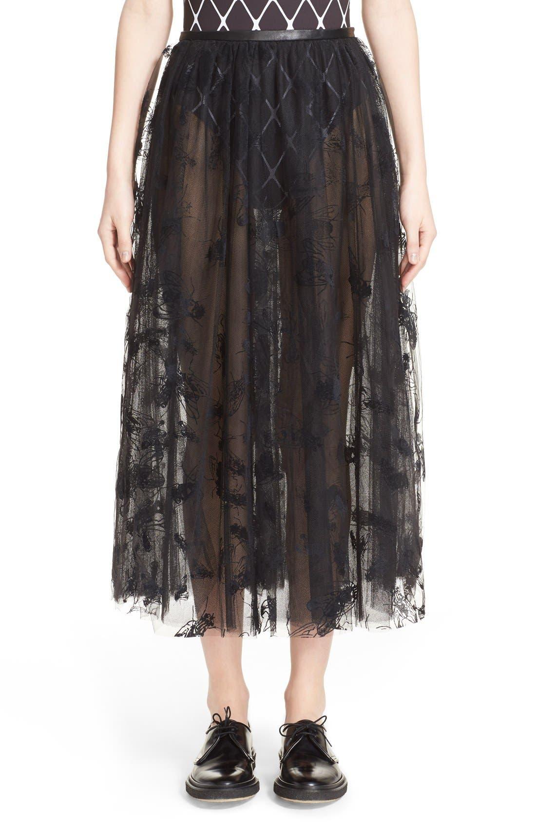 Alternate Image 1  - Ashley Williams 'Flock Fly' Sheer Tulle Skirt