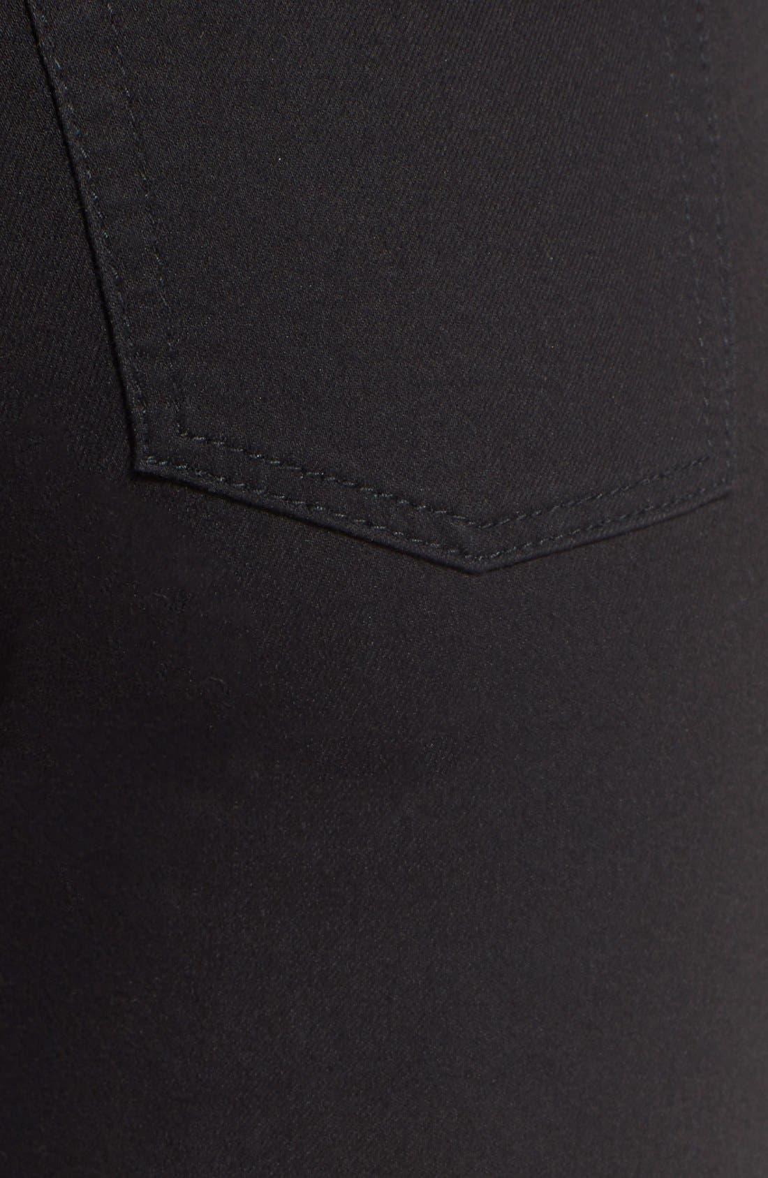 Alternate Image 5  - Cheap Monday High Rise Super Skinny Jeans (Black)