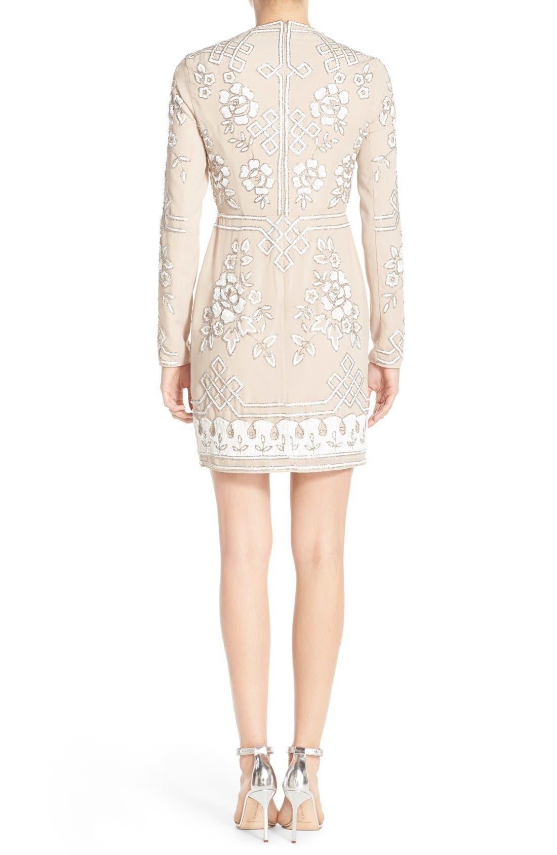 Alternate Image 2  - Needle & Thread Embellished Long Sleeve Minidress