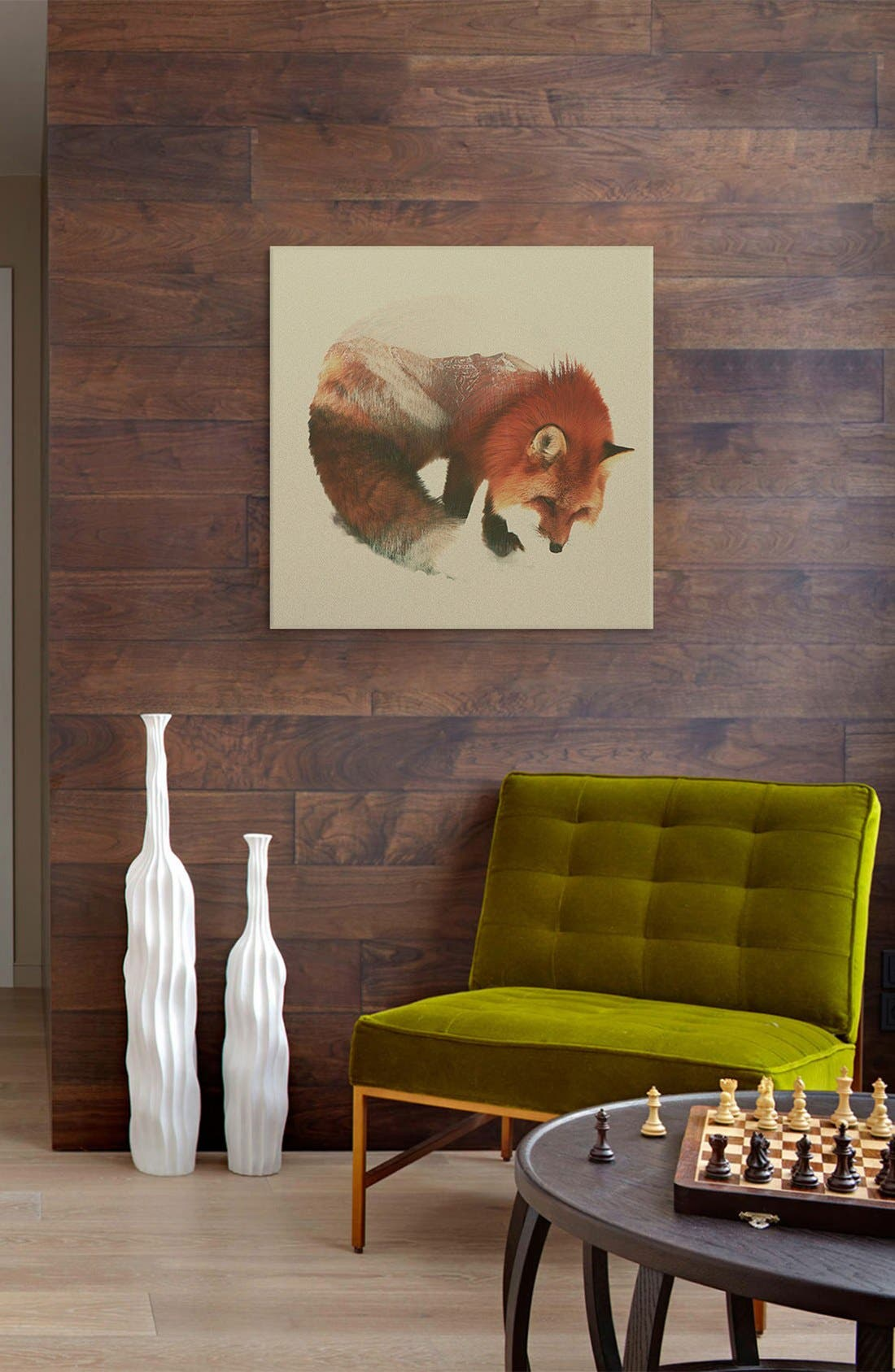 Alternate Image 2  - iCanvas 'Snow Fox' Giclée Print Canvas Art