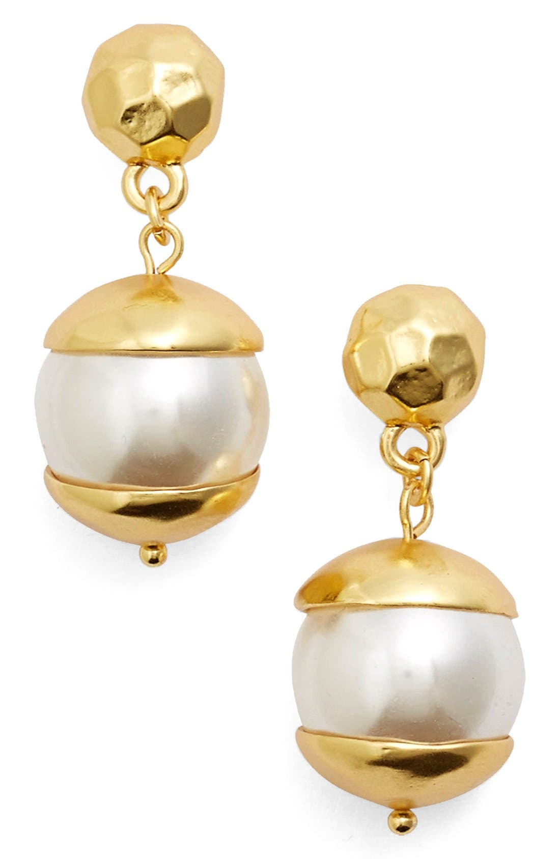 KARINE SULTAN Imitation Pearl Drop Earrings
