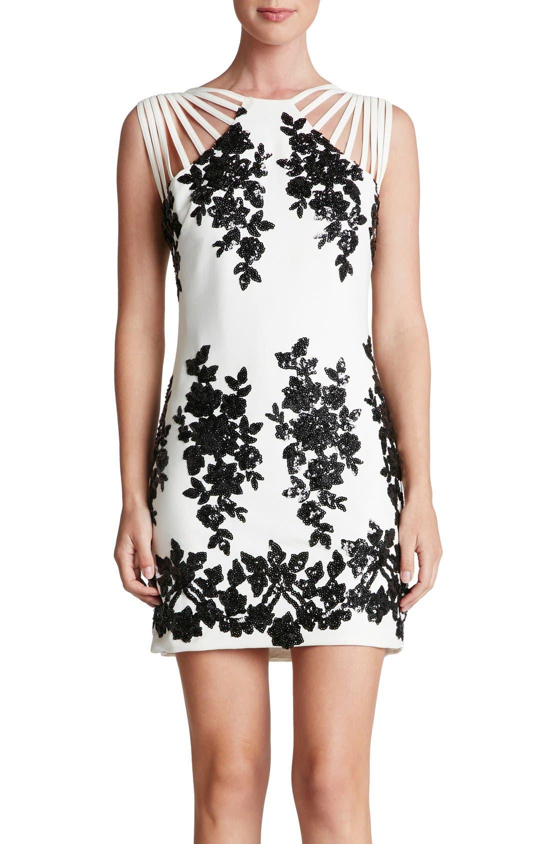 Alternate Image 1 Selected - Dress the Population 'Cora' Sequin Minidress