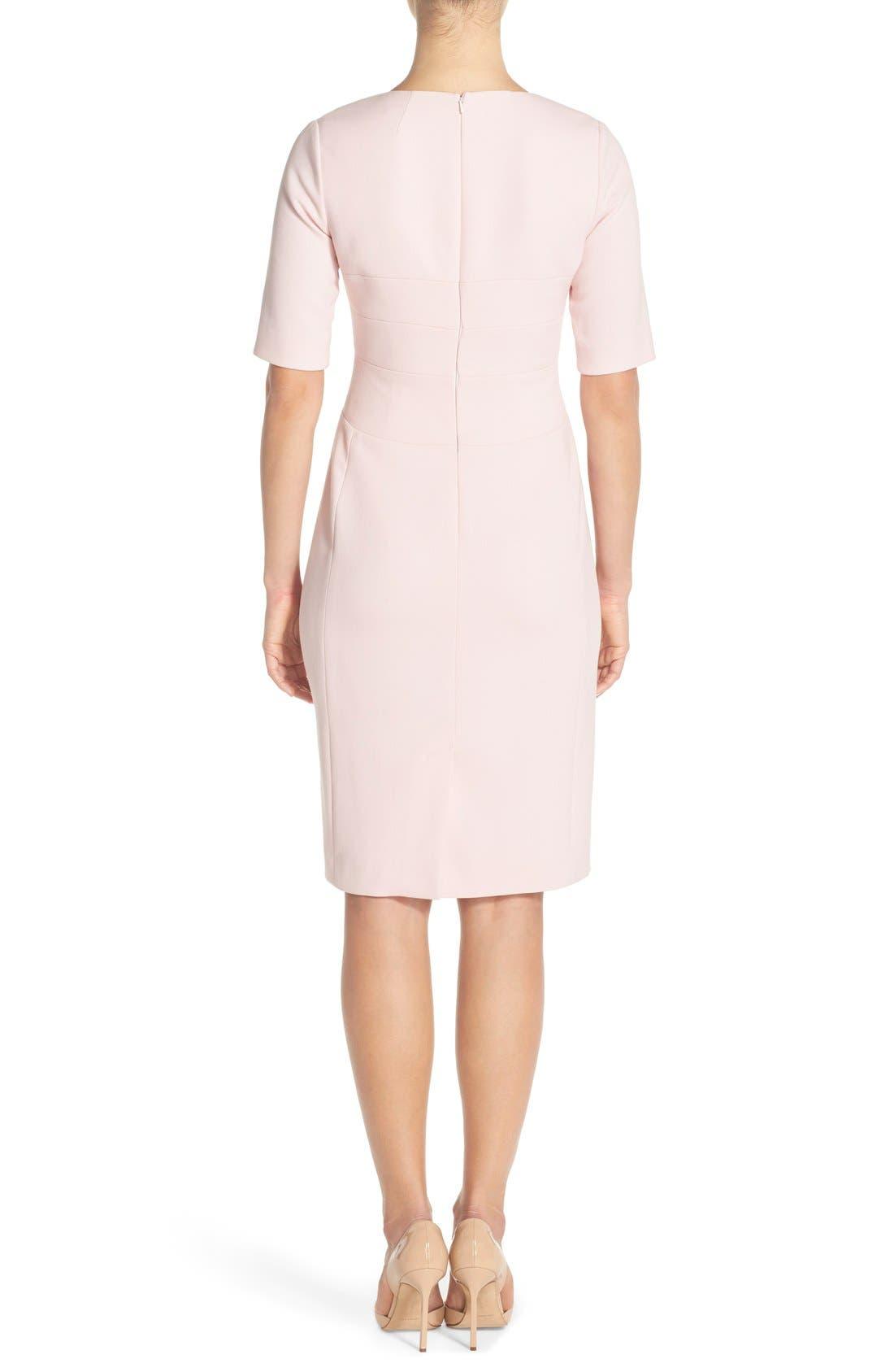 Alternate Image 2  - Eliza J Crepe Sheath Dress (Regular & Petite)