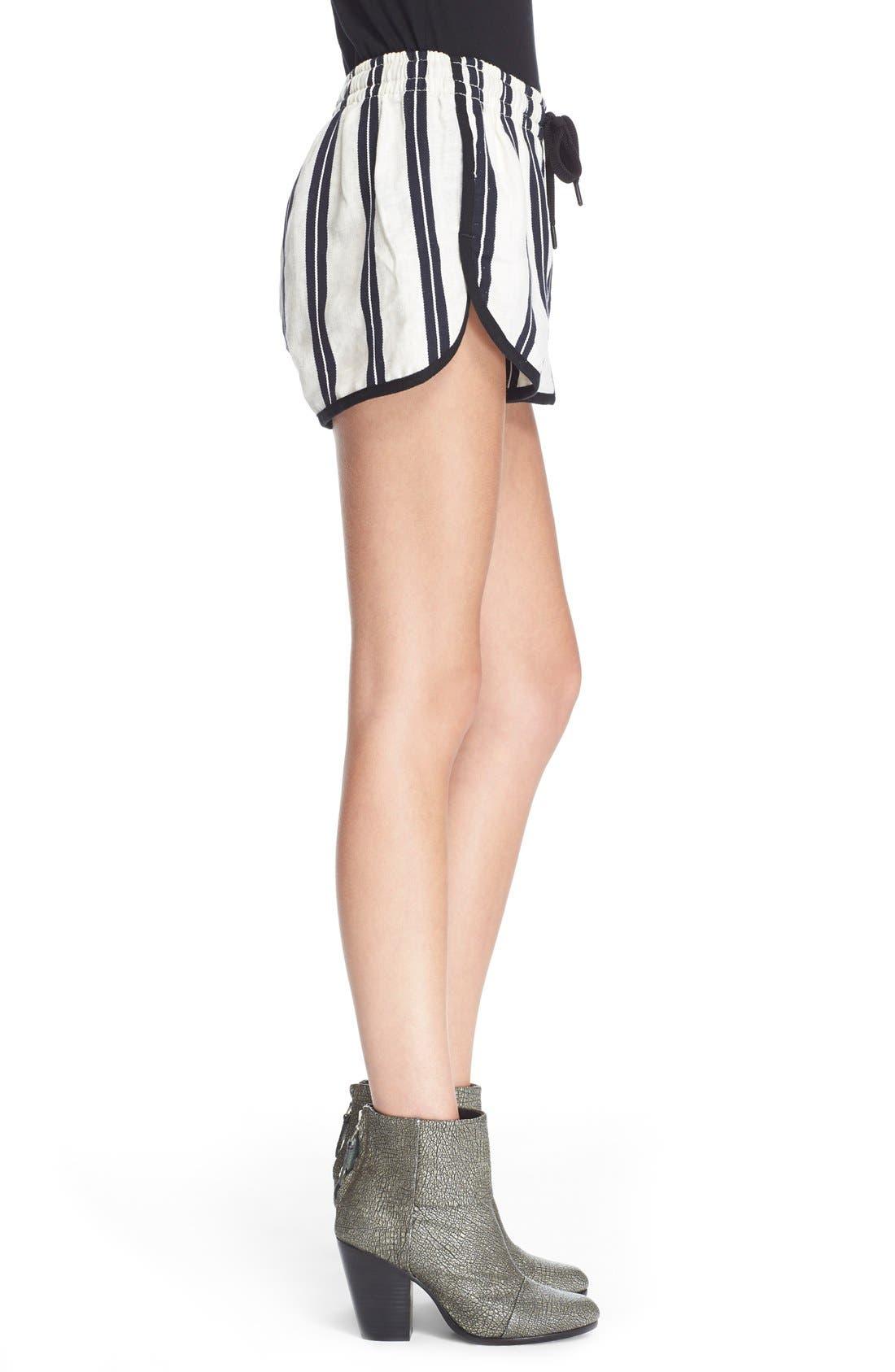 Alternate Image 3  - rag & bone/JEAN 'Beach' High Rise Stripe Shorts