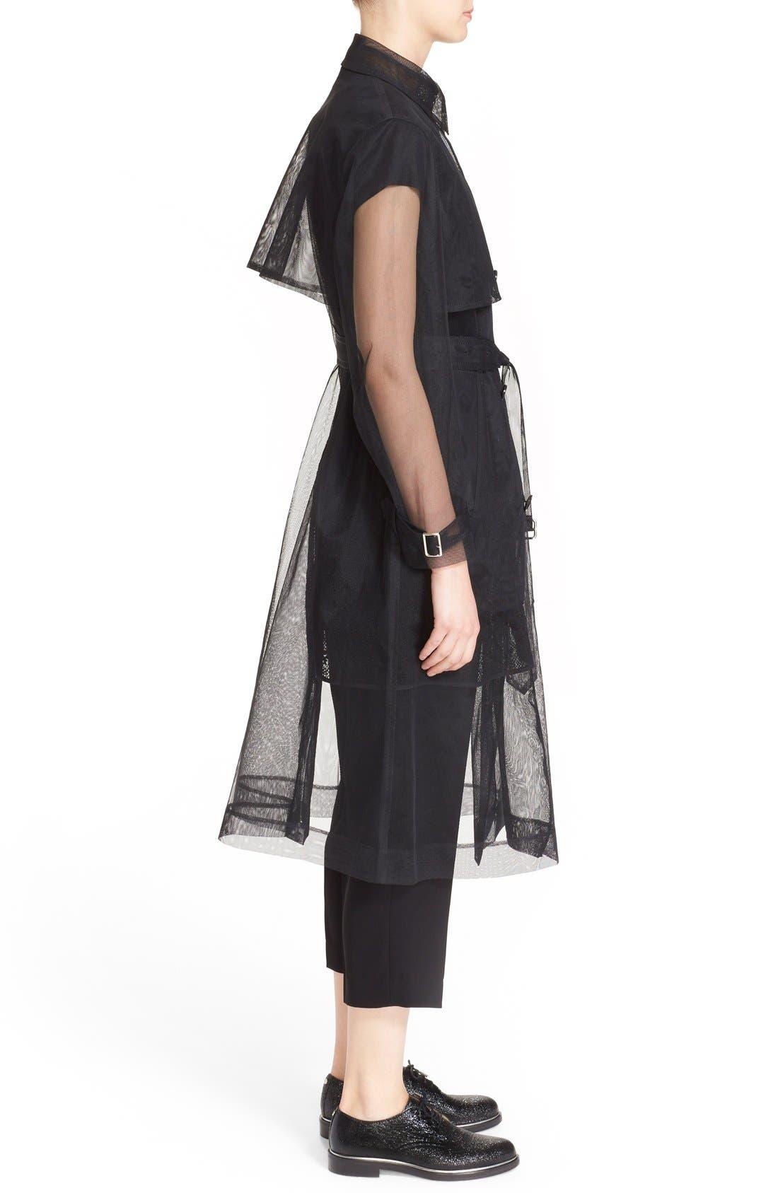 Alternate Image 4  - noir kei ninomiya Sheer Tulle Trench Coat