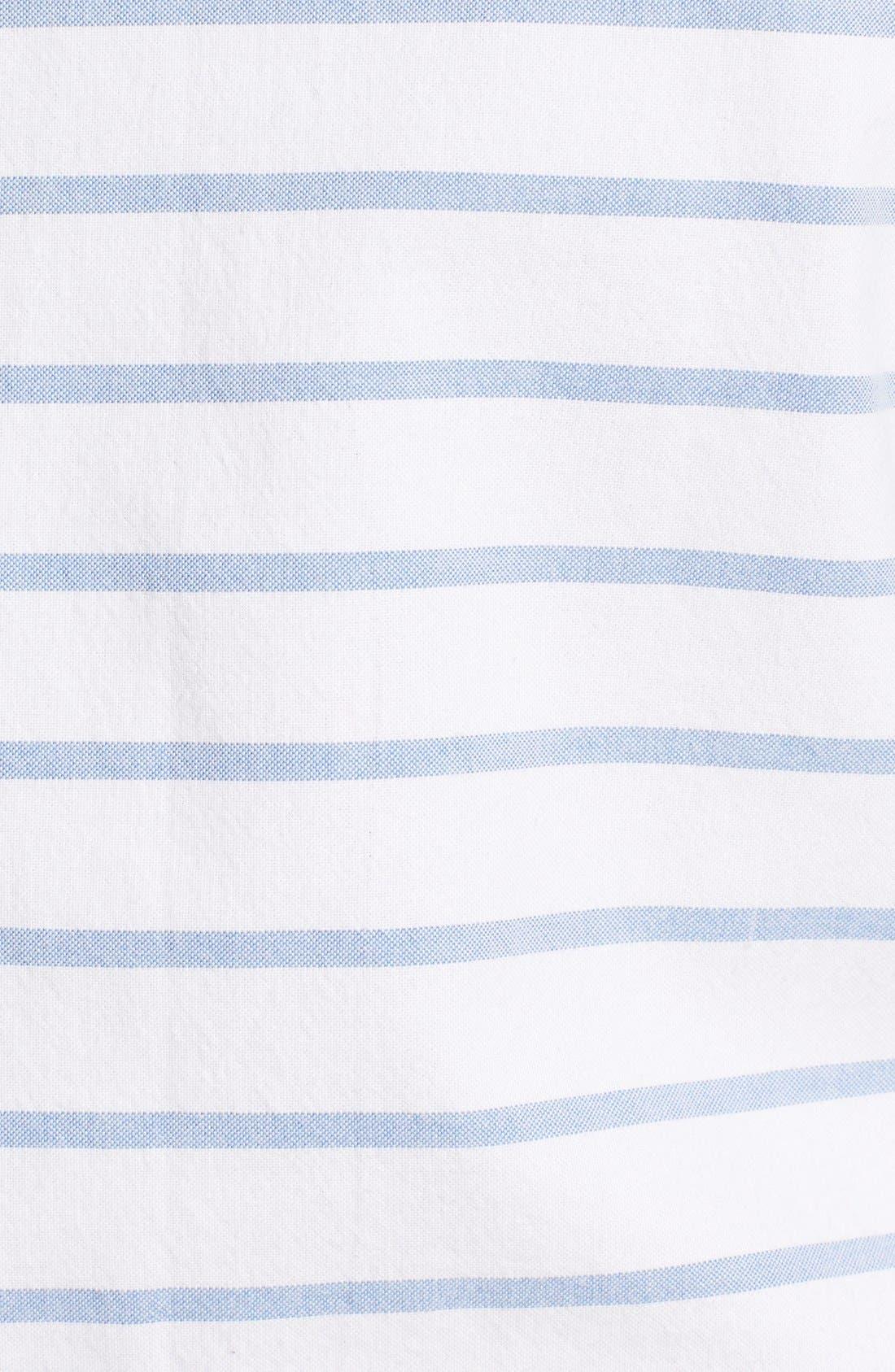 Alternate Image 5  - 1901 'La Conner' Trim Fit Stripe Print Woven Shirt