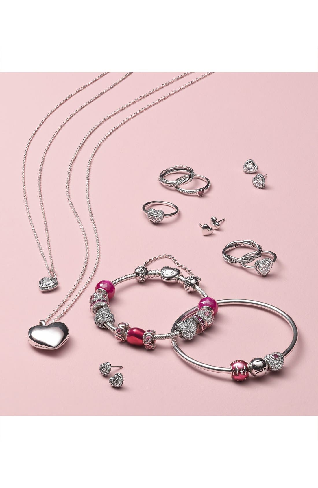Alternate Image 2  - PANDORA 'In My Heart' Pavé Heart Charm