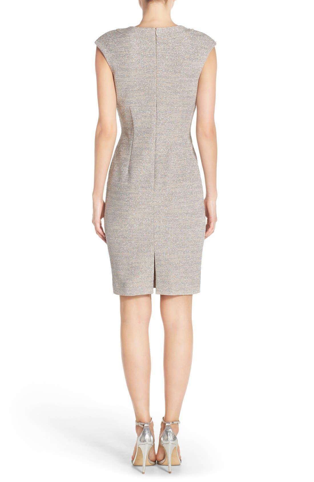 Alternate Image 2  - Eliza J Embellished Sparkle Knit Sheath Dress (Regular & Petite)