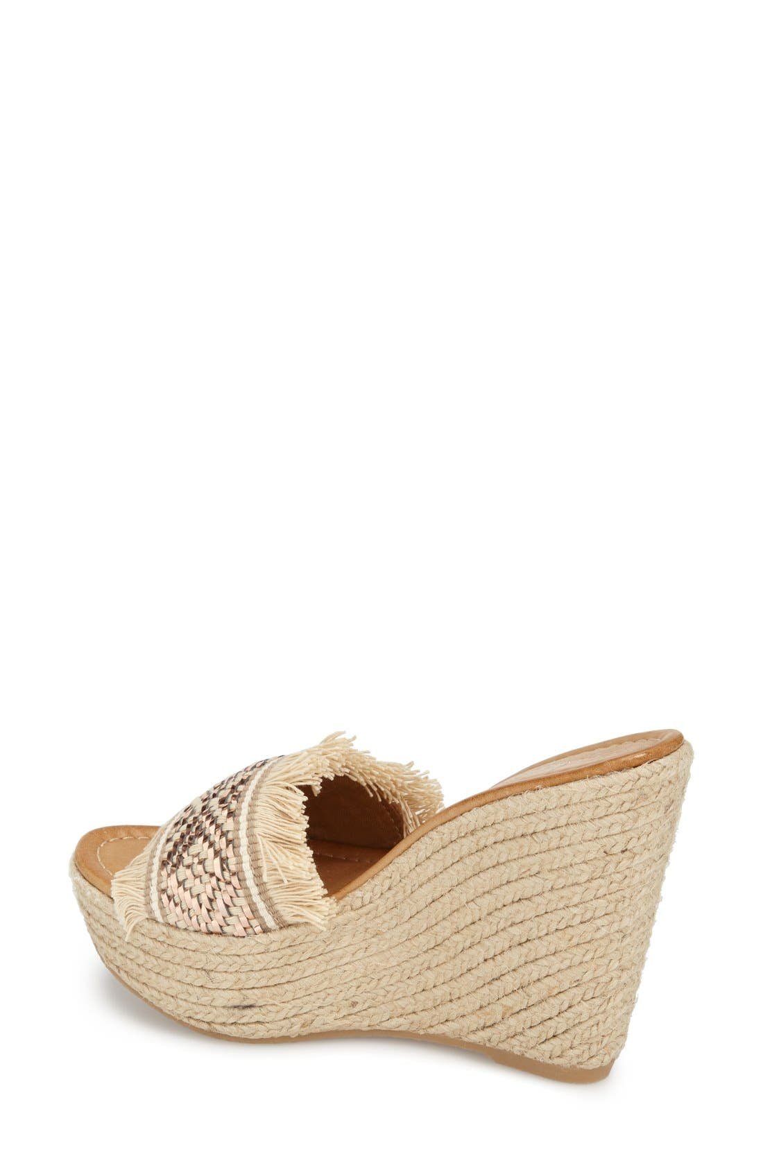 Alternate Image 2  - Charles David 'Dana' Fringe Wedge Sandal (Women)