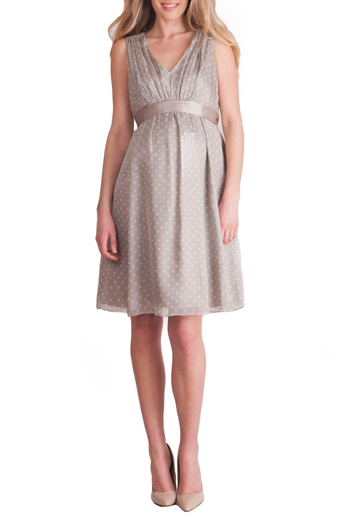 Seraphine Silk Chiffon Maternity Dress