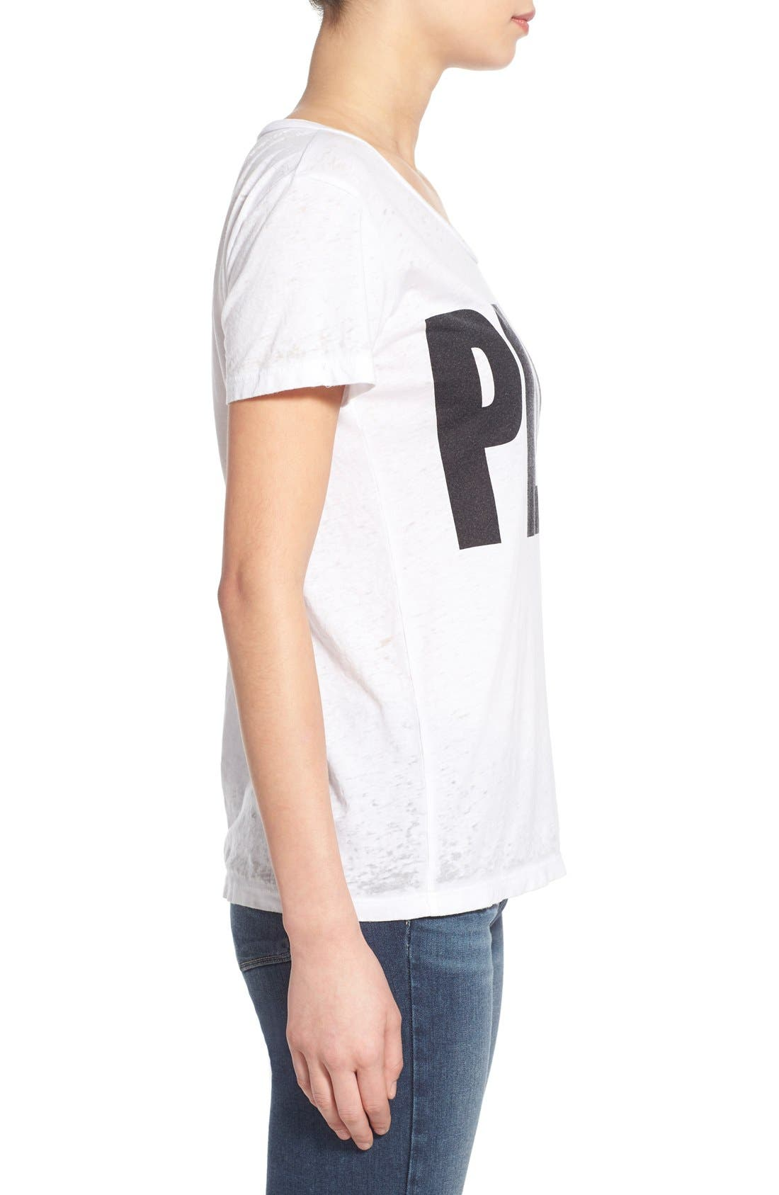 Alternate Image 2  - Chaser 'Peace' Burnout Crewneck Tee