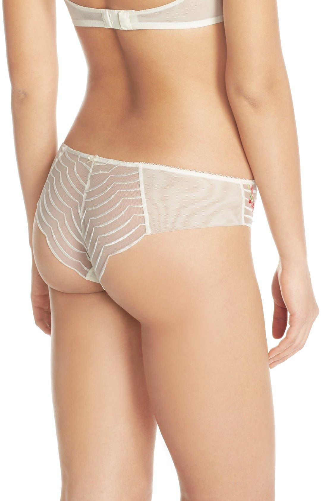 Alternate Image 2  - Wacoal 'Intuition' Embroidered Tanga