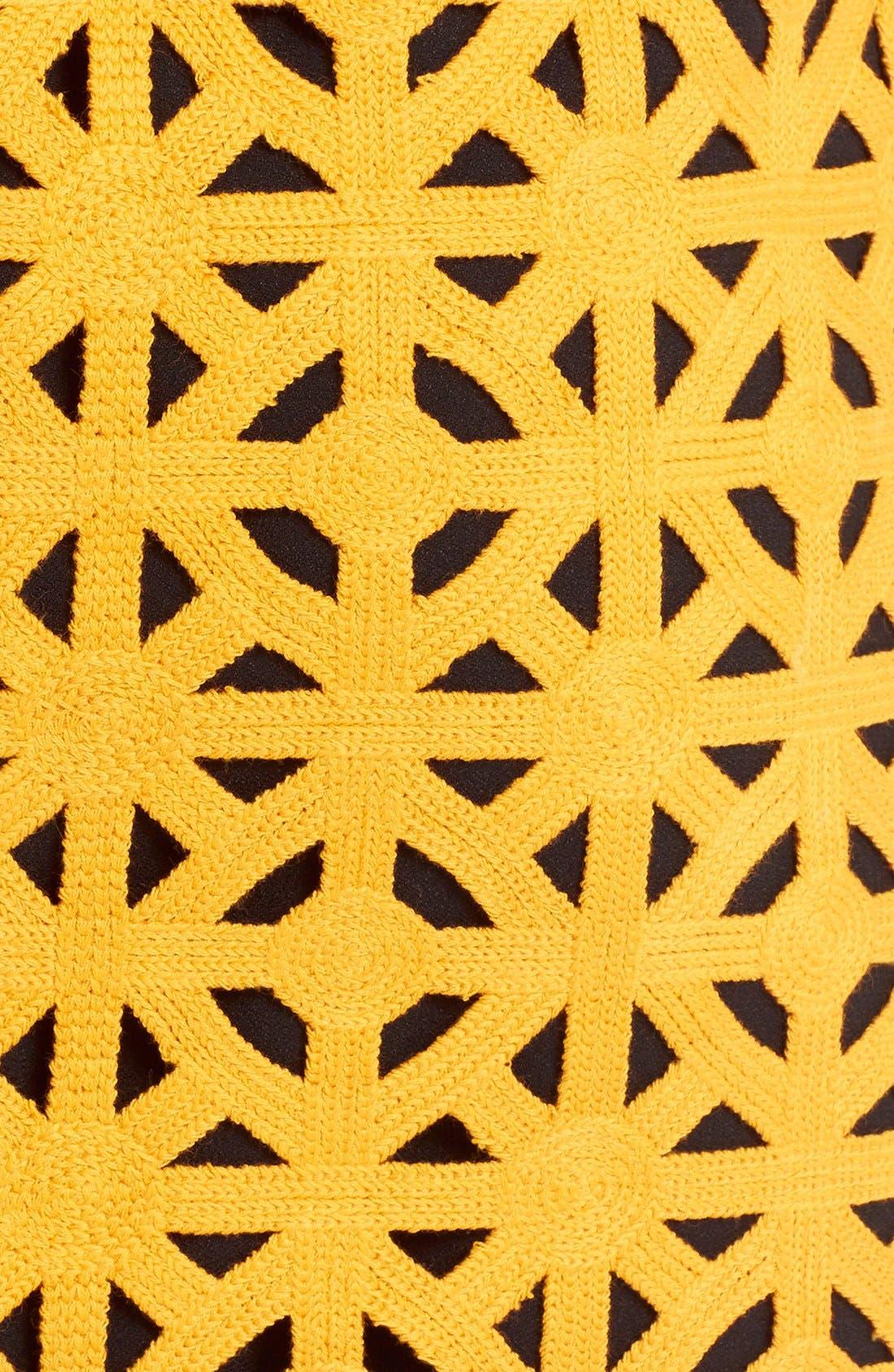 Alternate Image 5  - MSGM Geometric Cutout Cotton Pencil Skirt