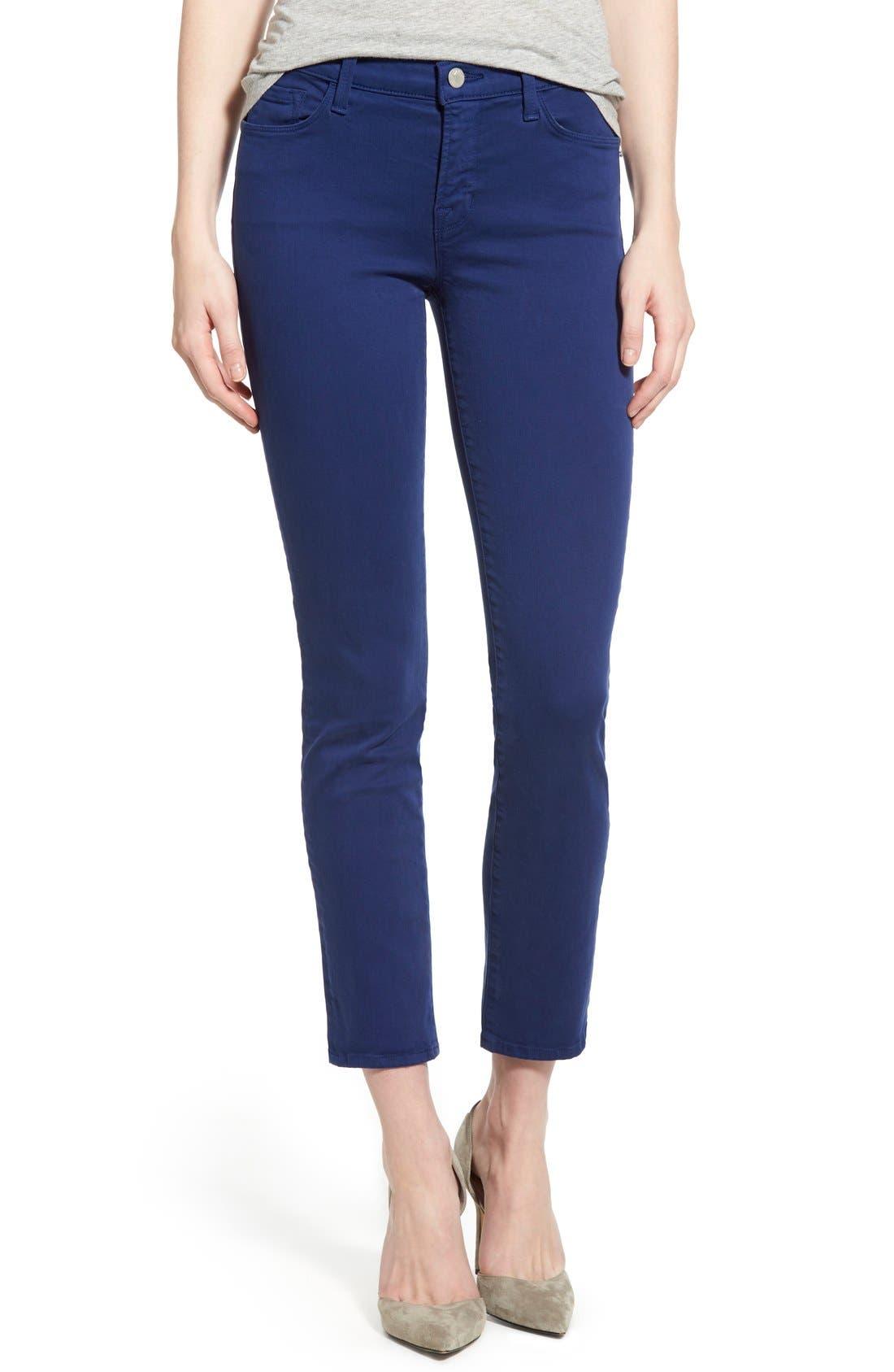 Main Image - J Brand 'Rail' Mid Rise Super Skinny Jeans